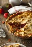 Homemade Strawberry Rhubarb Pie Royalty Free Stock Image