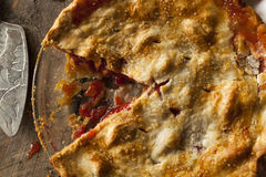 Homemade Strawberry Rhubarb Pie Royalty Free Stock Images
