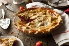 Homemade Strawberry Rhubarb Pie Royalty Free Stock Photography
