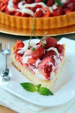 Homemade strawberry tart Stock Photos