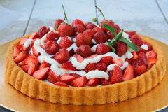 Homemade strawberry tart Royalty Free Stock Photos