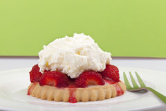 Homemade strawberry tart Royalty Free Stock Photography