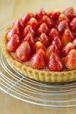 homemade strawberry tart stock photos