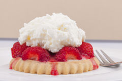 Homemade strawberry tart Royalty Free Stock Images