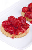 Homemade strawberry tarts Royalty Free Stock Images