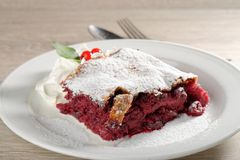 Homemade Strudel with cherries Stock Images