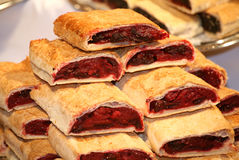 Homemade strudel filling with sour cherry cream Royalty Free Stock Images