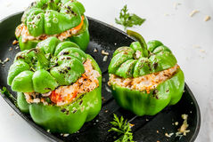Homemade stuffed bell pepper Royalty Free Stock Images