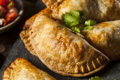Homemade Stuffed Chicken Empanadas Stock Images