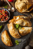 Homemade Stuffed Chicken Empanadas Royalty Free Stock Image