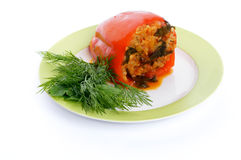 Homemade Stuffed Red Bell Pepper Royalty Free Stock Images