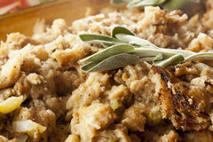 Homemade Stuffing made for Thanksgiving Stock Photography