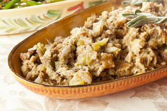 Homemade Stuffing made for Thanksgiving Royalty Free Stock Photo