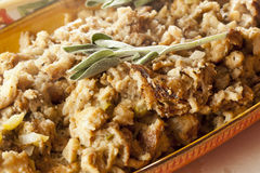 Homemade Stuffing made for Thanksgiving Stock Photo