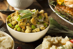 Homemade Stuffing for Thanksgiving Royalty Free Stock Images