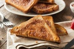 Homemade Sugar and Cinnamon Toast Royalty Free Stock Photo