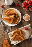 Homemade Sugar and Cinnamon Toast Stock Photography