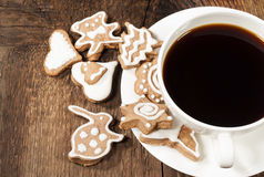 Homemade sugar cookies with coffee Royalty Free Stock Photo