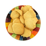 Homemade sugar cookies on colorful dish Stock Photos