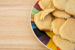 Homemade sugar cookies on plate Stock Photos