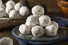 Homemade Sugary Donut Holes. On a Background Stock Photo