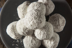 Homemade Sugary Donut Holes Stock Photos