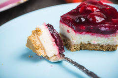 Homemade summer berries fruit cheesecake Royalty Free Stock Images