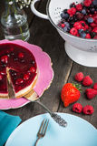 Homemade summer berries fruit cheesecake Royalty Free Stock Photography