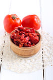 Homemade sun dried tomatoes Stock Photography