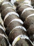 Homemade Sushi. Rows of homemade maki sushi rolls Stock Image