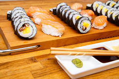 Homemade sushi Stock Images