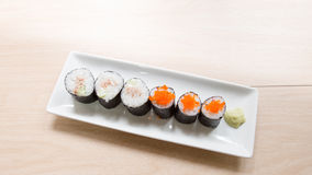 Homemade sushi Stock Photos