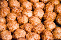 Homemade Swedish Meatballs. Close up of Homemade Swedish Meatballs Royalty Free Stock Images