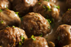 Homemade Swedish Meatballs with Cream Sauce Royalty Free Stock Photography