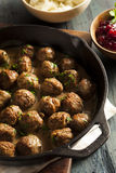 Homemade Swedish Meatballs with Cream Sauce Royalty Free Stock Image