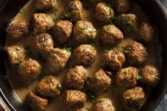 Homemade Swedish Meatballs with Cream Sauce Royalty Free Stock Photo