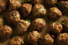 Homemade Swedish Meatballs with Cream Sauce Royalty Free Stock Photos