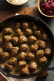 Homemade Swedish Meatballs with Cream Sauce Royalty Free Stock Photos