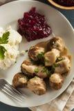 Homemade Swedish Meatballs with Cream Sauce Stock Photography