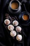 Homemade sweet balls yle Royalty Free Stock Image