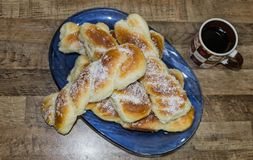 Homemade sweet bread. stock photos