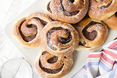 Homemade sweet buns Stock Photography