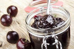 Homemade sweet cherry marmalade Stock Photography