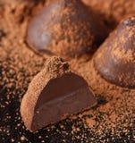 Chocolate truffle. Stock Photos