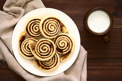 Homemade Sweet Cocoa Rolls Royalty Free Stock Images