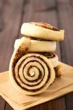 Homemade Sweet Cocoa Rolls Stock Photos