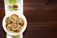 Homemade Sweet Cocoa Rolls Royalty Free Stock Photography