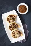 Homemade Sweet Cocoa Rolls Royalty Free Stock Image