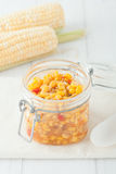 Homemade sweet corn and peppers Stock Photos