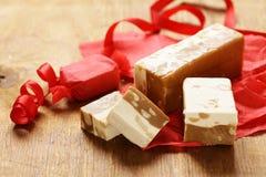 Homemade sweet dessert nougat Stock Photo